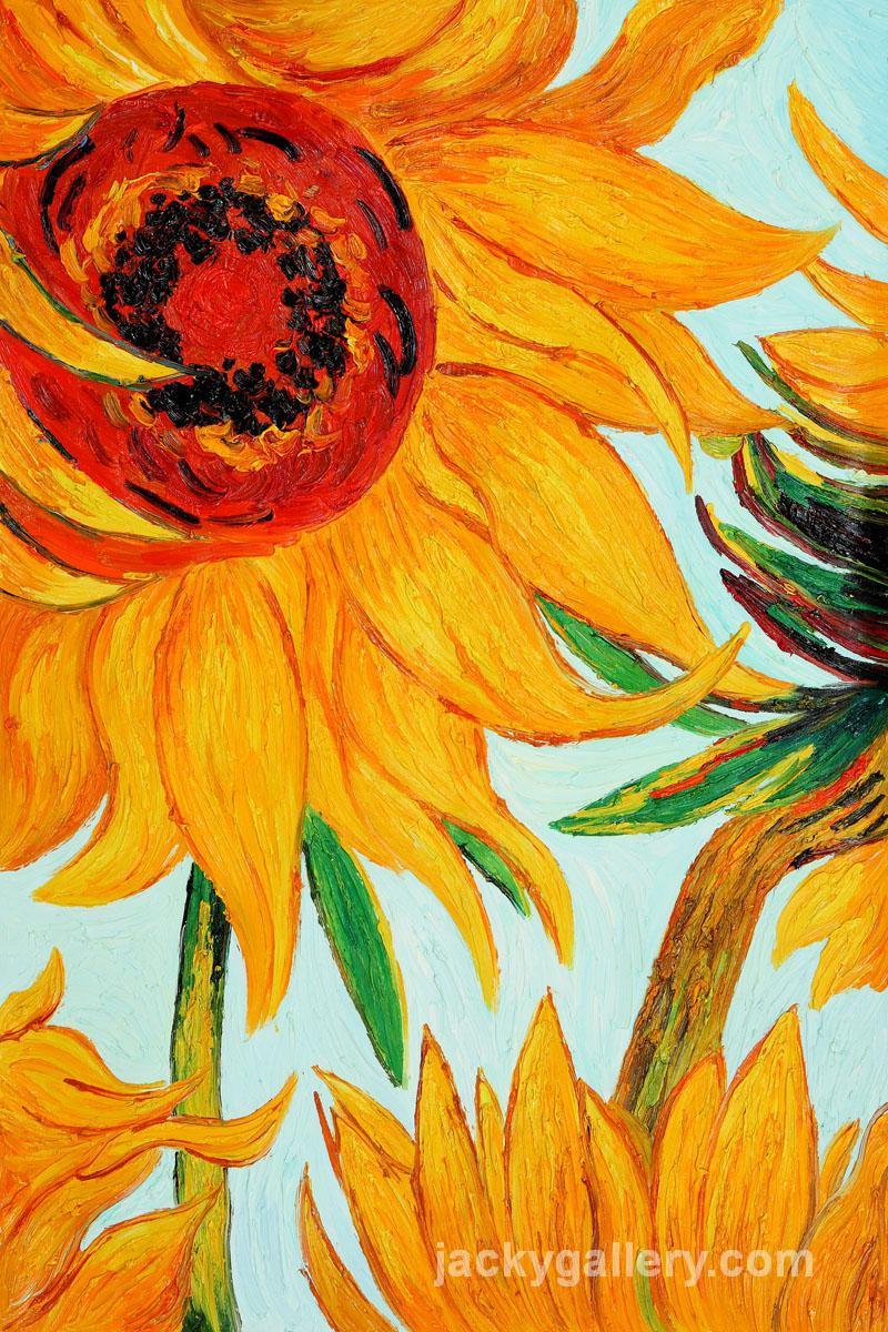 Sunflowers Detail Vincent Van Gogh High Quality Hand Painted Oil