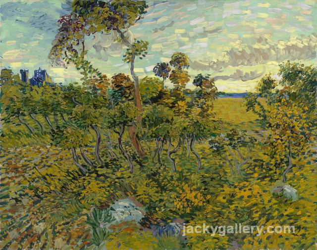 Sunset at Montmajour, Van Gogh painting