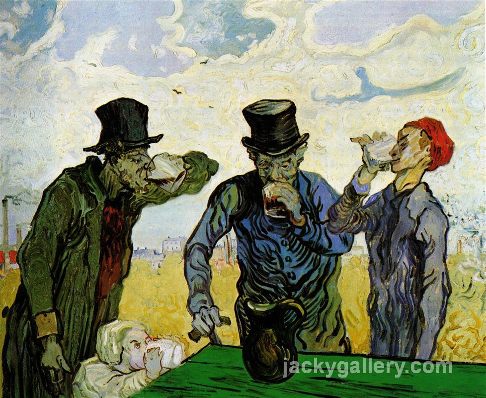 The Drinkers after Daumier, Van Gogh painting