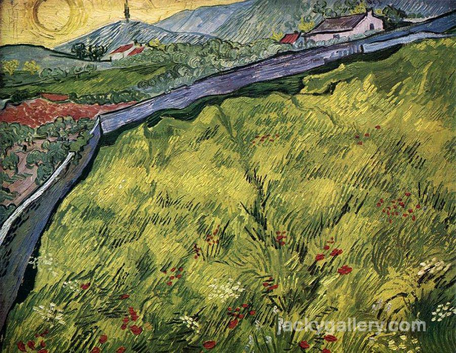 The Green Wheat Field Behind the Asylum, Van Gogh painting