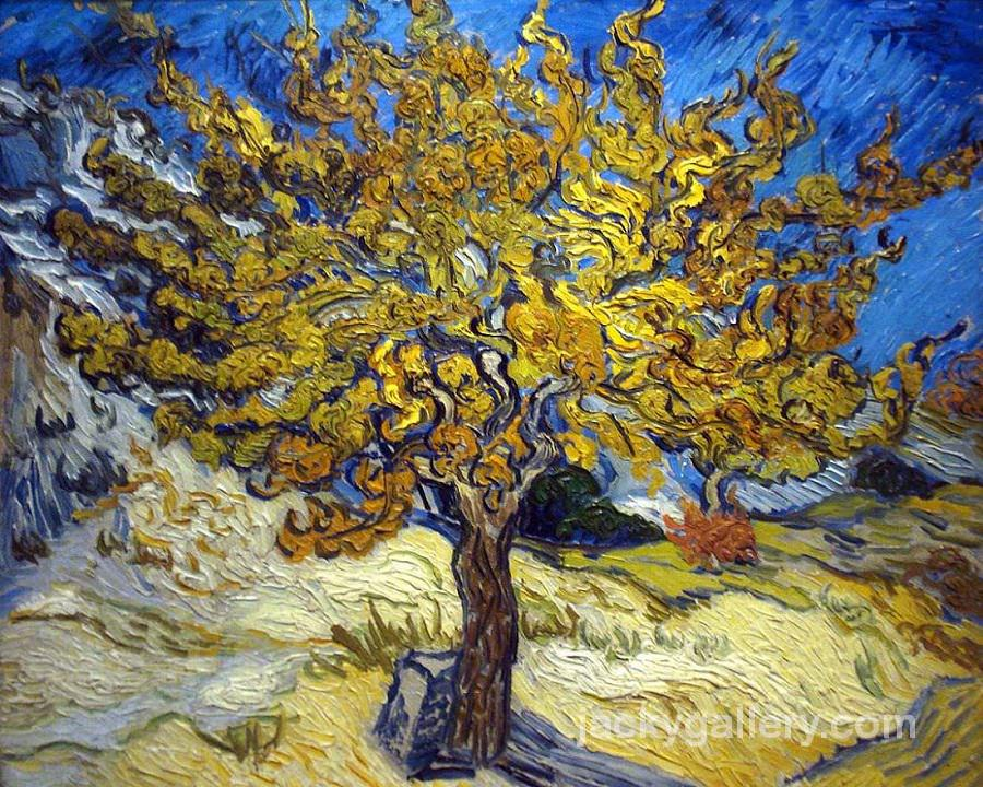 The Mulberry Tree in Autumn, Van Gogh painting