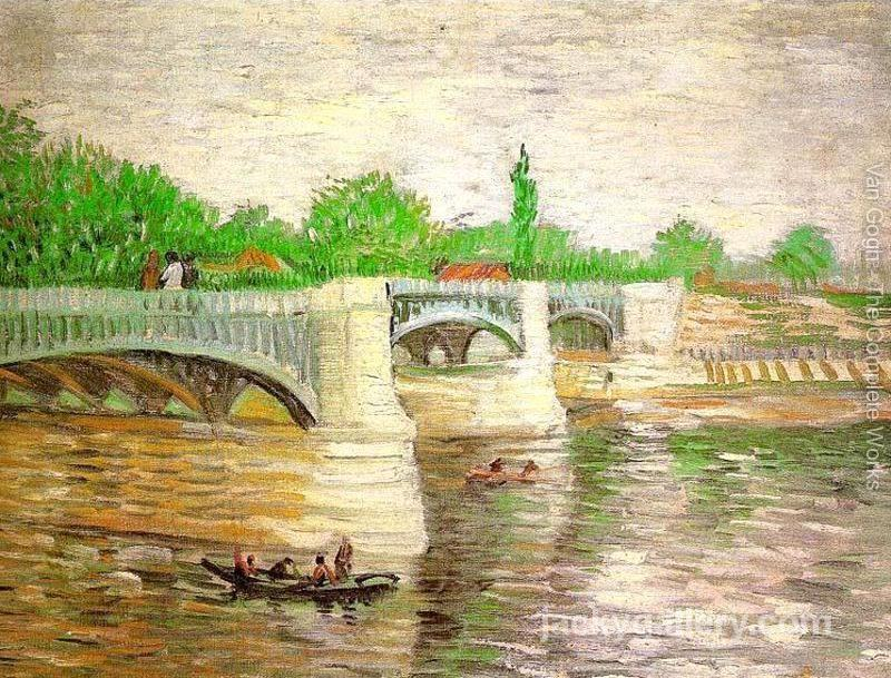 The Seine with the Pont de Clichy 2, Van Gogh painting
