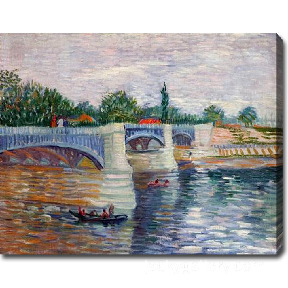 The Seine with the Pont de la Grande Jatte, Van Gogh painting