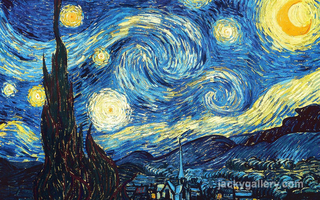 The Starry Night, Van Gogh painting