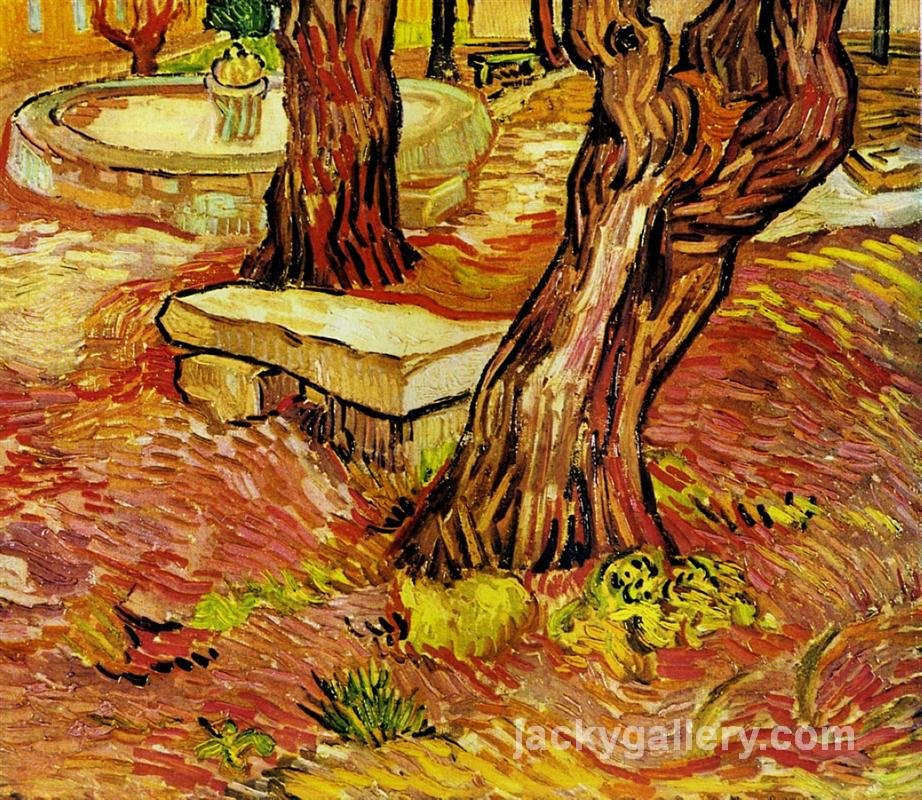 The Stone Bench in the Garden at Saint-Paul Hospital, Van Gogh painting