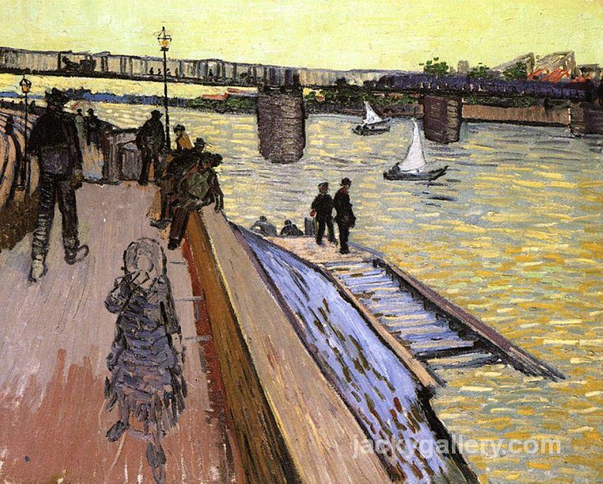 The Trinquetoille Bridge, Van Gogh painting