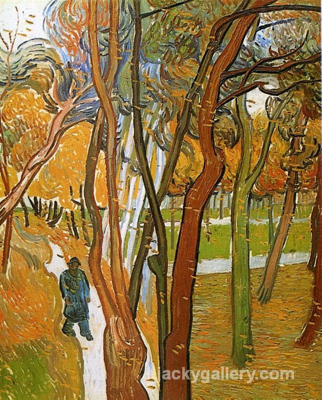 The Walk - Falling Leaves, Van Gogh painting
