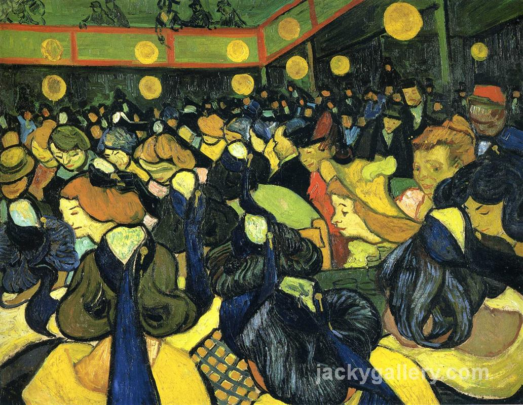 The ballroom at Arles, Van Gogh painting
