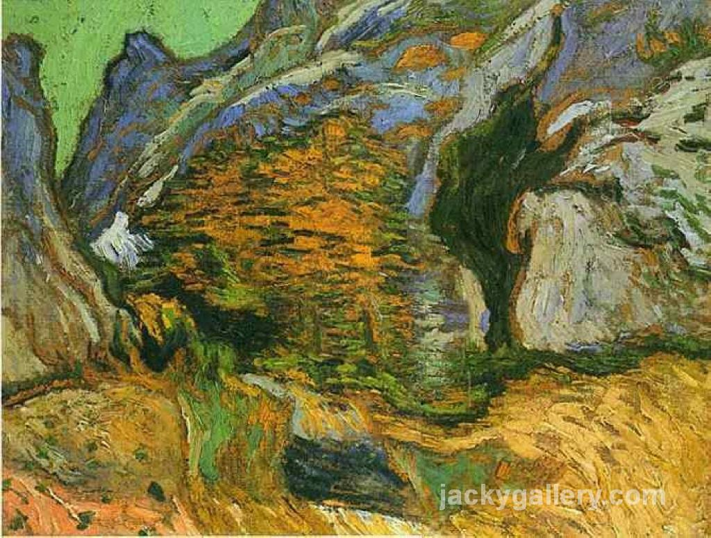 The gully Peiroulets, Van Gogh painting