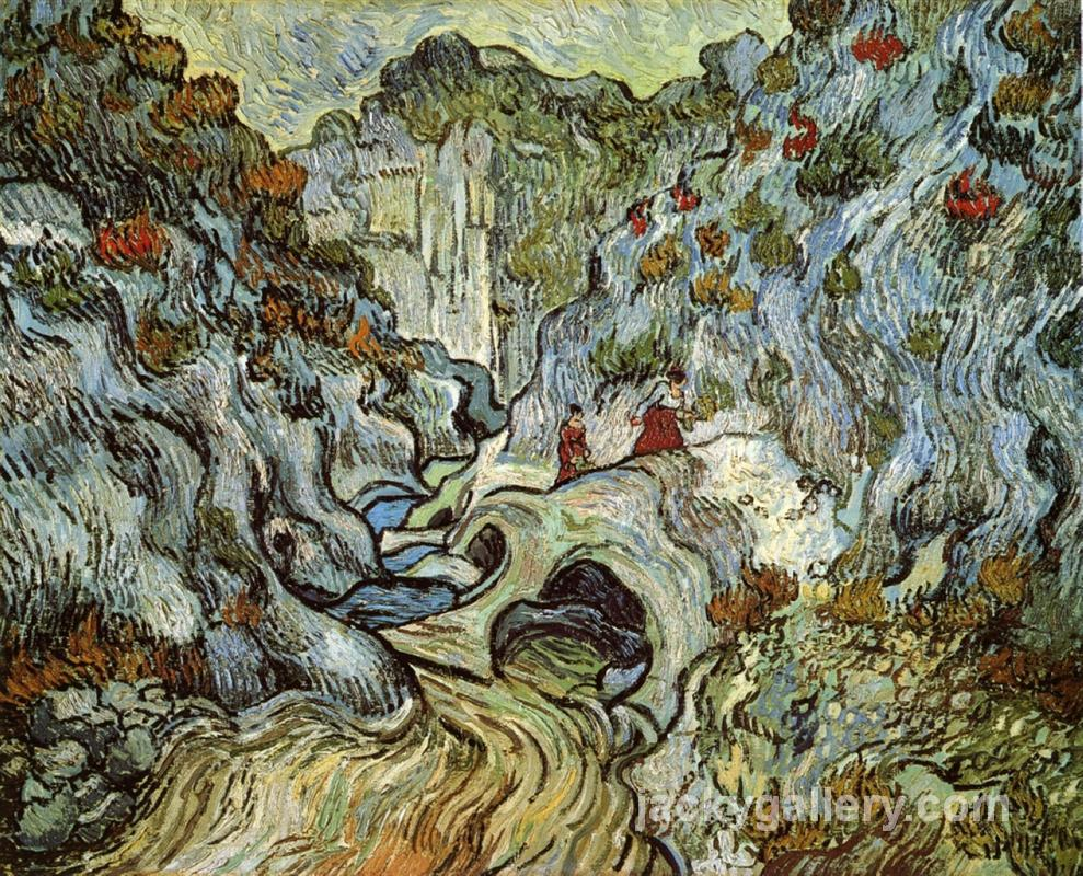 The ravine of the Peyroulets, Van Gogh painting