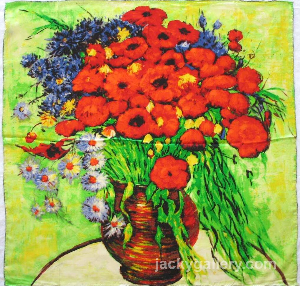 Vase With Daisies and Poppies II, Van Gogh painting
