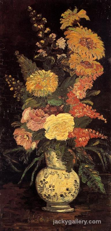 Vase with Asters and Phlox, Van Gogh painting