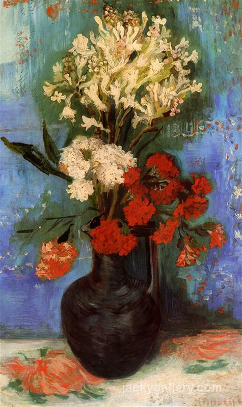 Vase with Carnations and Other Flowers, Van Gogh painting
