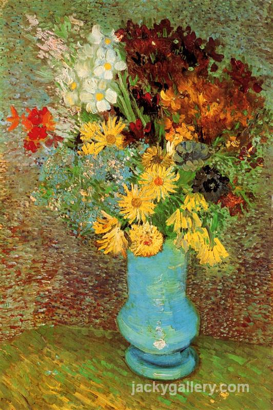 Vase with Daisies and Anemones, Van Gogh painting