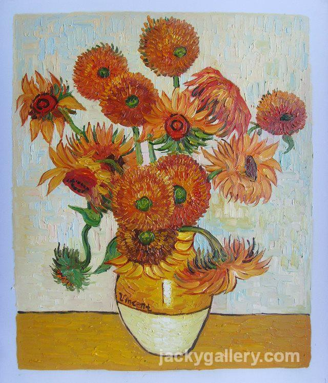 Vase With Fifteen Sunflowers Vincent Van Gogh High Quality Hand