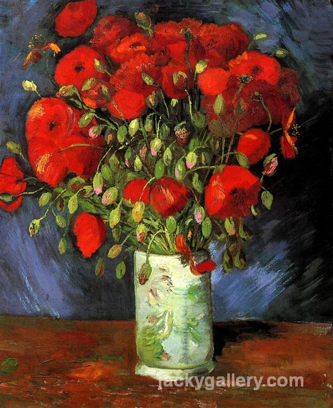 Vase with Red Poppies, Van Gogh painting