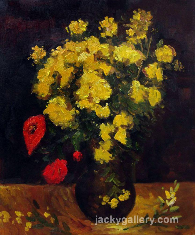 Vase with Viscaria (Poppy Flowers), Van Gogh painting