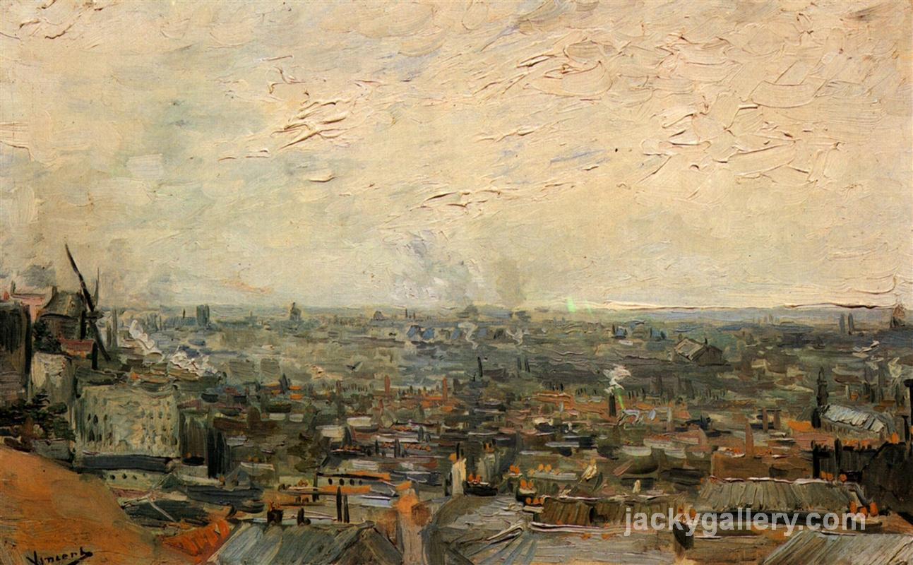 View of Paris from Montmartre, Van Gogh painting