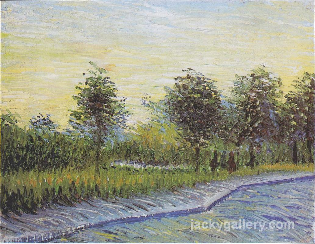 Way in the Voyer d Argenson Park in Asnieres, Van Gogh painting
