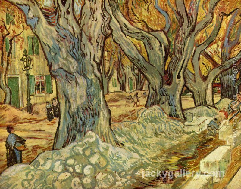 canalization works, Van Gogh painting