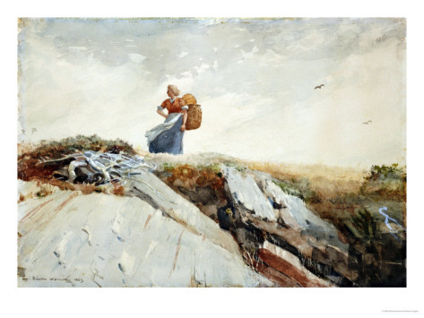 Down the Cliff, 1883 By Winslow Homer