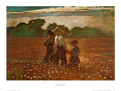In the Mowing By Winslow Homer