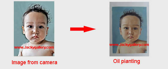 convert child image to oil paintings